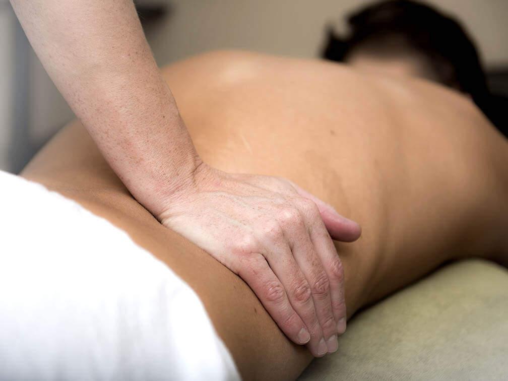 masazža hrbta